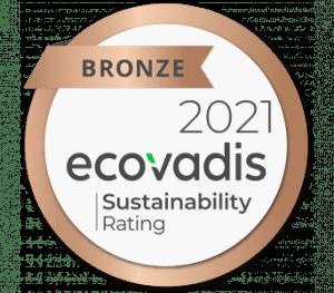 Ecovadis Sustainability rating award in 2021